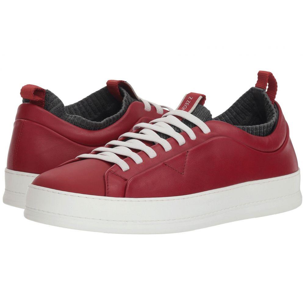ジーゼニア Z Zegna メンズ シューズ・靴 スリッポン・フラット【Imperia Elasticized Slip-On Sock Sneaker】Red