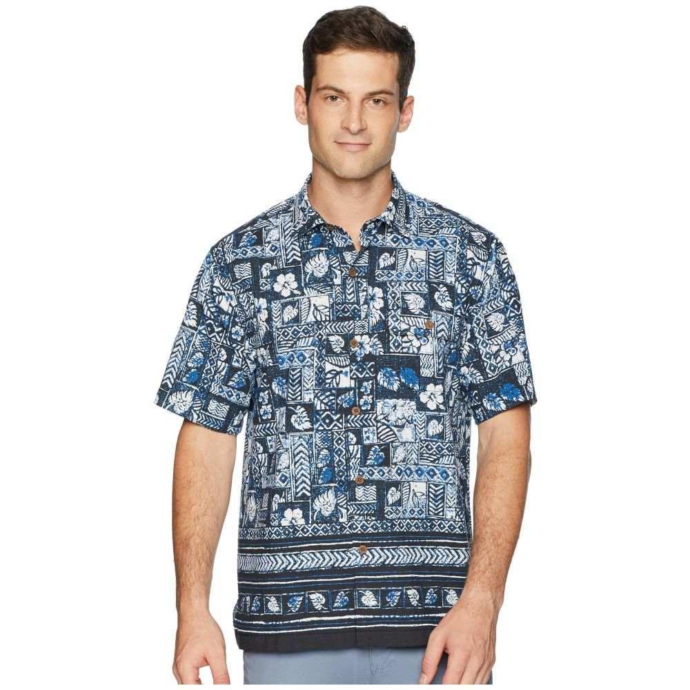 トミー バハマ Tommy Bahama メンズ トップス シャツ【Veracruz Border Tiles IslandZone Camp Shirt】Cobalt Sea