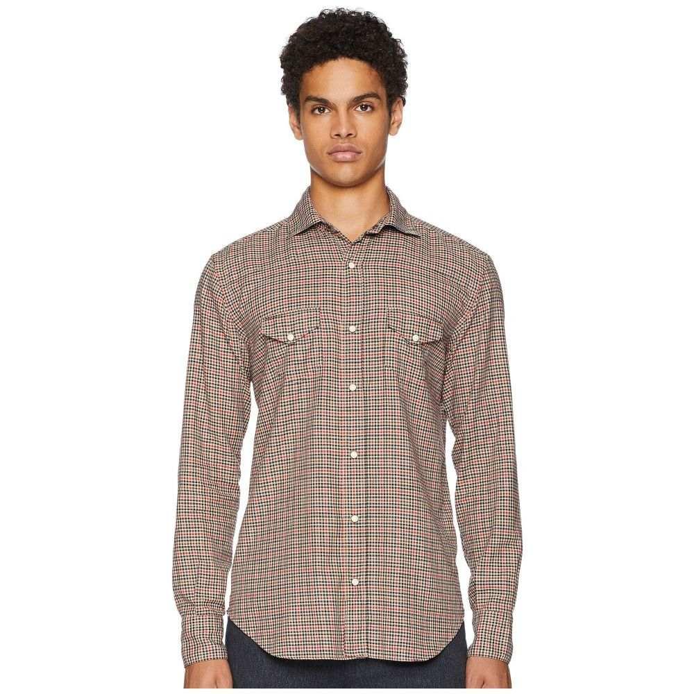 イレブンティ eleventy メンズ トップス シャツ【Mini-Check Snap Western Shirt】Beige