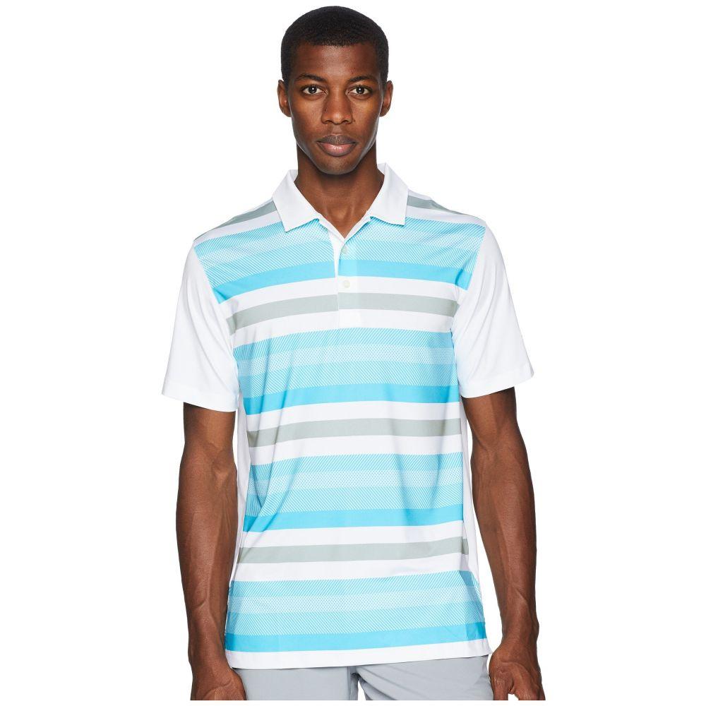 プーマ PUMA Golf メンズ ゴルフ トップス【Turf Stripe Polo】Bright White/Blue Atoll