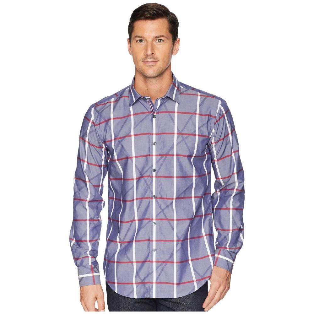 ブガッチ BUGATCHI メンズ トップス シャツ【Shaped Fit Plaid Woven Shirt】Navy