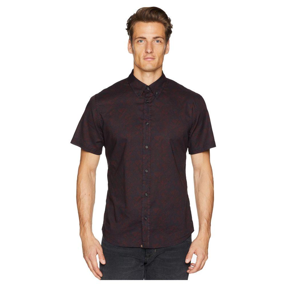ビリー レイド Billy Reid メンズ トップス 半袖シャツ【Short Sleeve Murphy Shirt】Navy/Red Field Line
