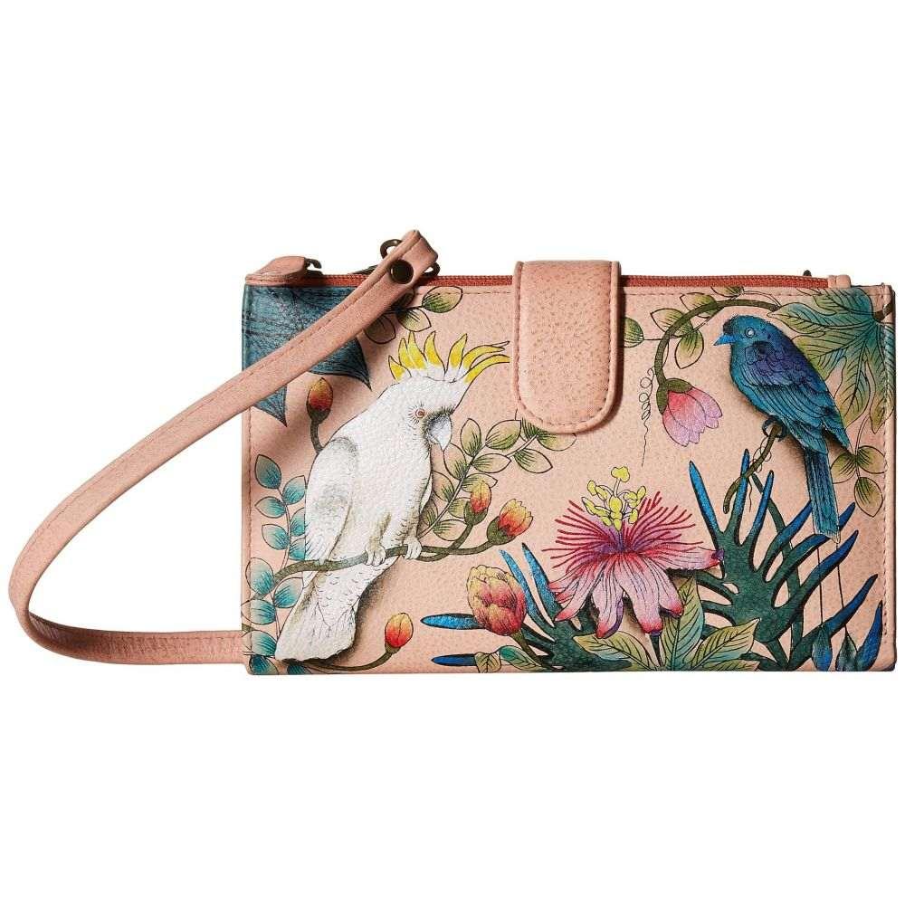 アヌシュカ Anuschka Handbags レディース スマホケース【1113 Large Smartphone Case & Wallet】Cockatoo Sunrise