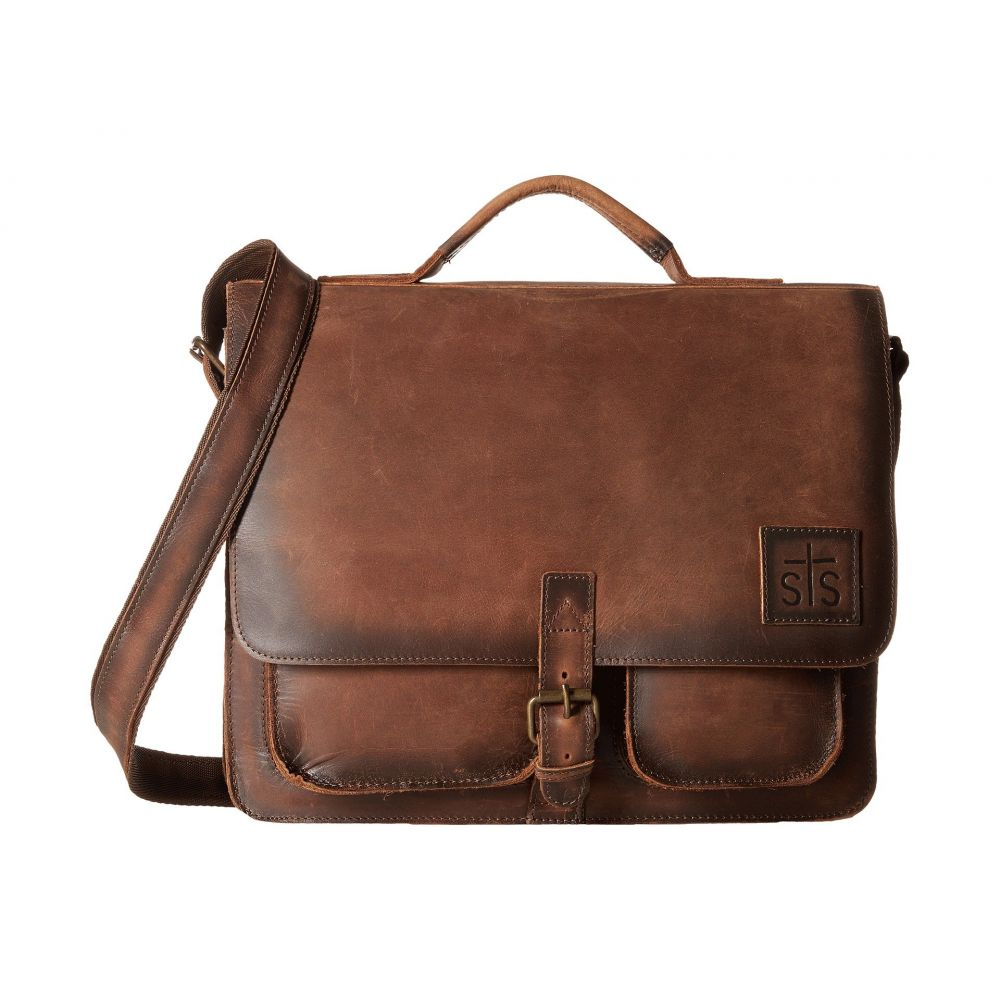 STSランチウェア STS Ranchwear メンズ バッグ メッセンジャーバッグ【The Foreman Messenger】Brown Leather