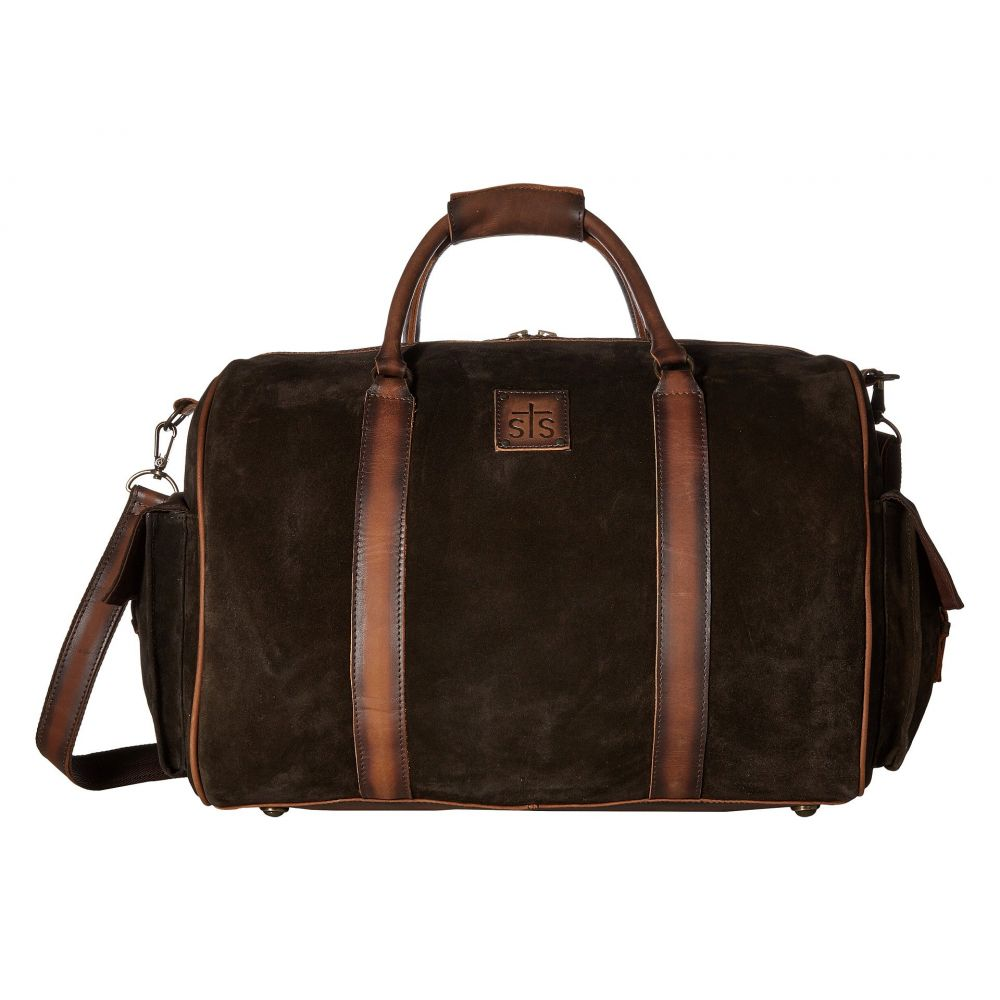 STSランチウェア STS Ranchwear レディース バッグ ボストンバッグ・ダッフルバッグ【Heritage Duffel Bag】Chocolate Suede/Tornado Brown