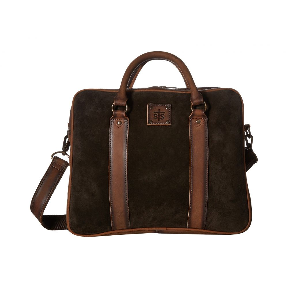 STSランチウェア STS Ranchwear レディース バッグ【Heritage Satchel Briefcase】Chocolate Suede/Tornado Brown