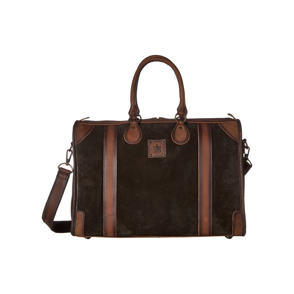 STSランチウェア STS Ranchwear レディース バッグ ボストンバッグ・ダッフルバッグ【Heritage Overnight Bag】Chocolate Suede/Tornado Brown