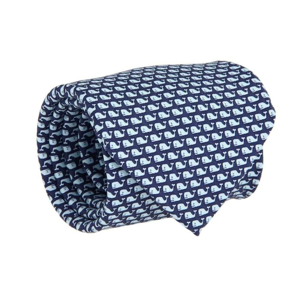 ヴィニヤードヴァインズ Vineyard Vines メンズ ネクタイ【Vineyard Whale Silk Tie】Navy