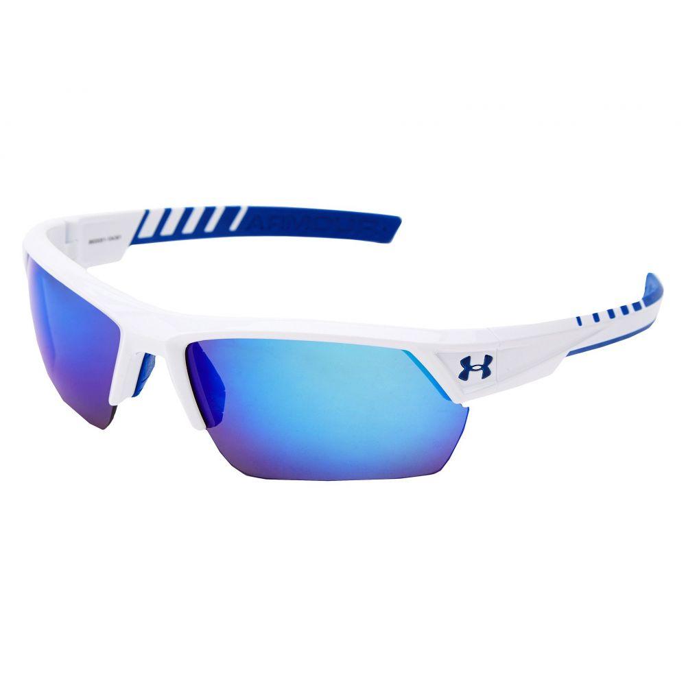 アンダーアーマー Under Armour レディース スポーツサングラス【UA Igniter 2.0】White Exterior/Blue Interior/Blue Rubber/ML Blue Mirror