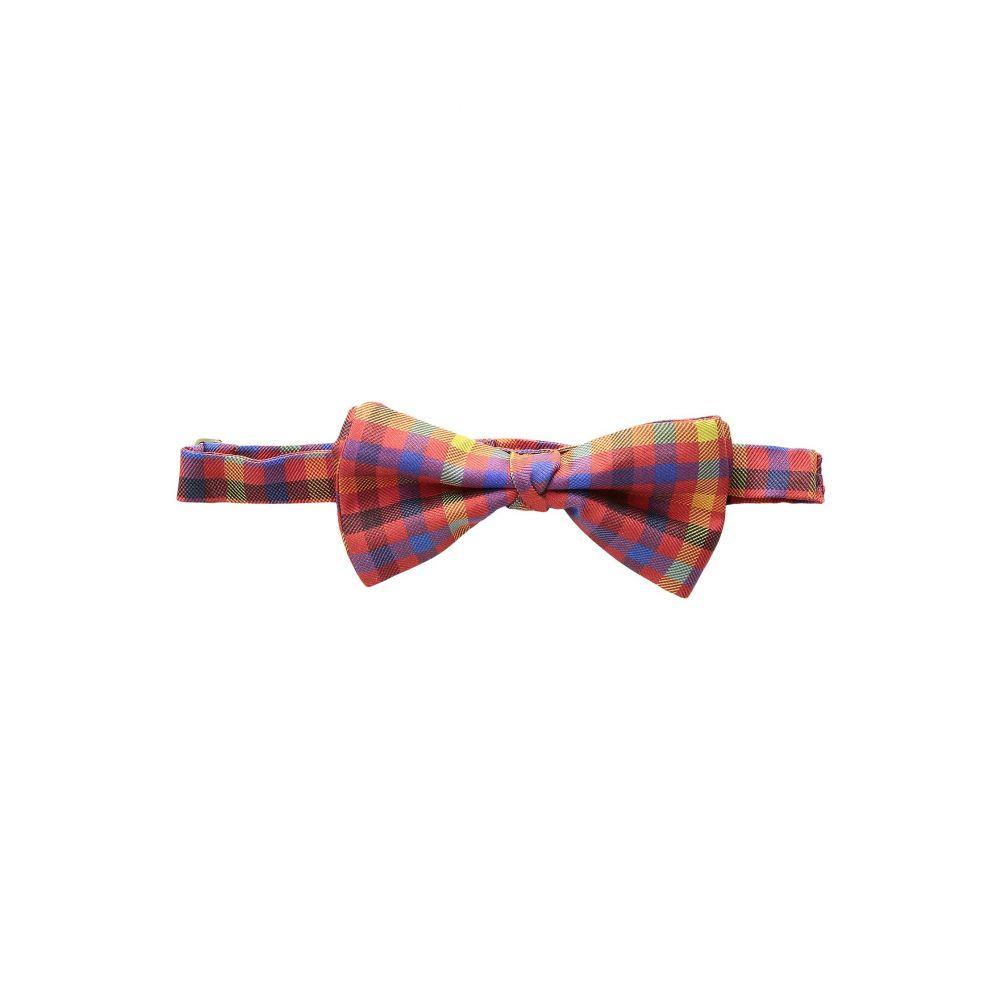 エトロ Etro メンズ 蝶ネクタイ【Check Bow Tie】Red