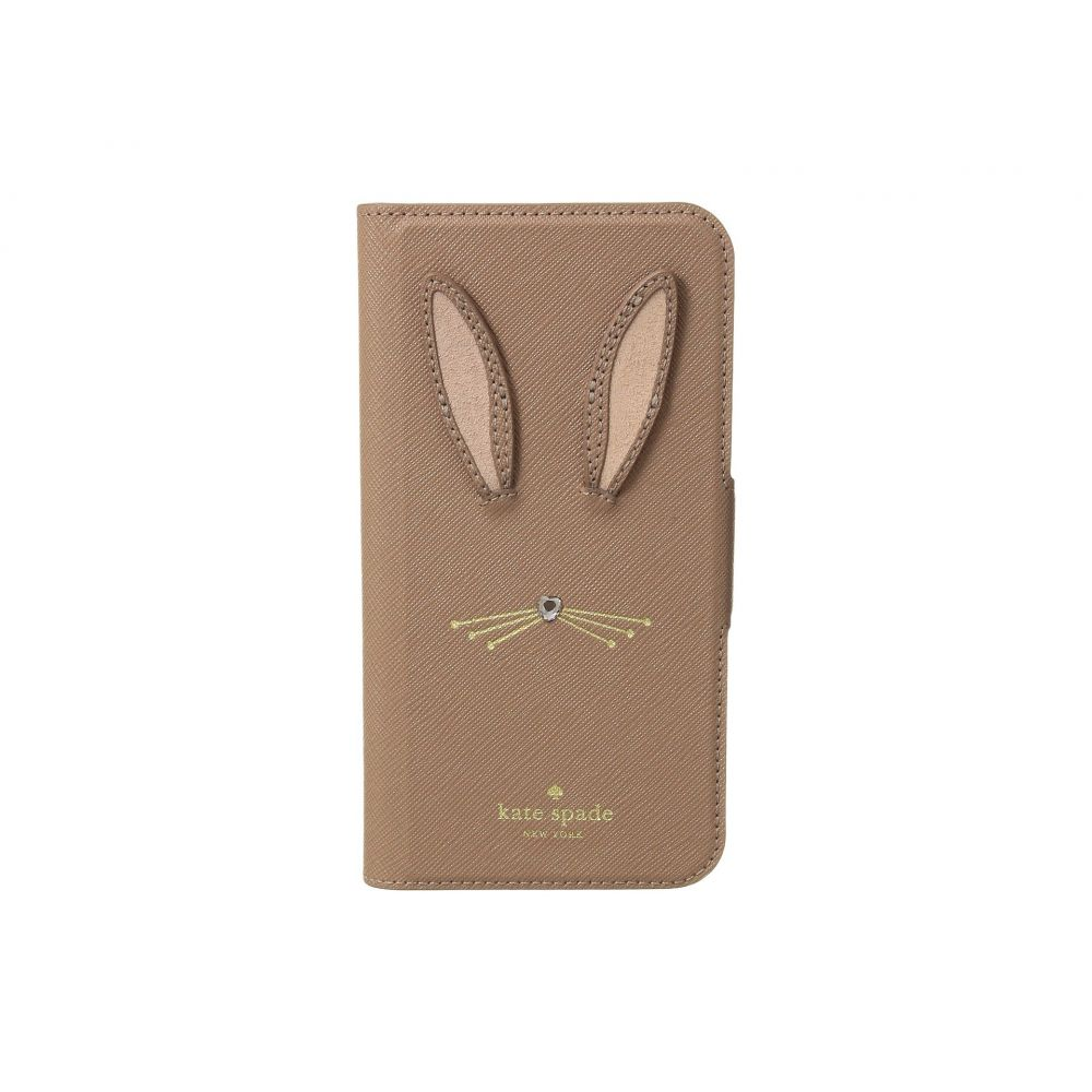 ケイト スペード Kate Spade New York レディース iPhone (X)ケース【Rabbit Applique Folio Phone Case for iPhone X】Tan Multi