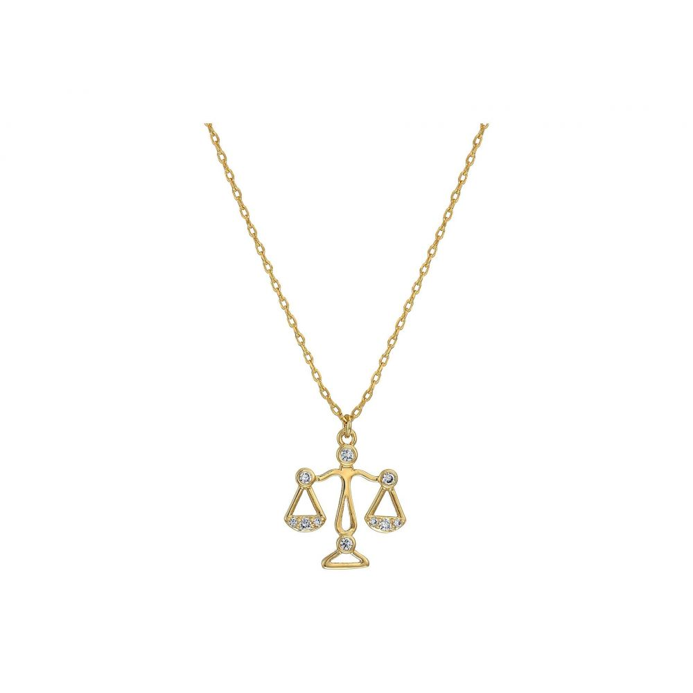 ケイト スペード Kate Spade New York レディース ジュエリー・アクセサリー ネックレス【Celestial Charm Libra Pendant Necklace】Clear/Gold