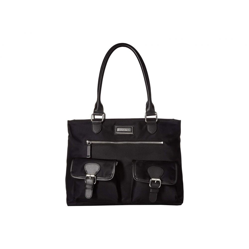 カルバンクライン Calvin Klein レディース バッグ トートバッグ【Belfast Key Item Nylon Tote】Black/Silver