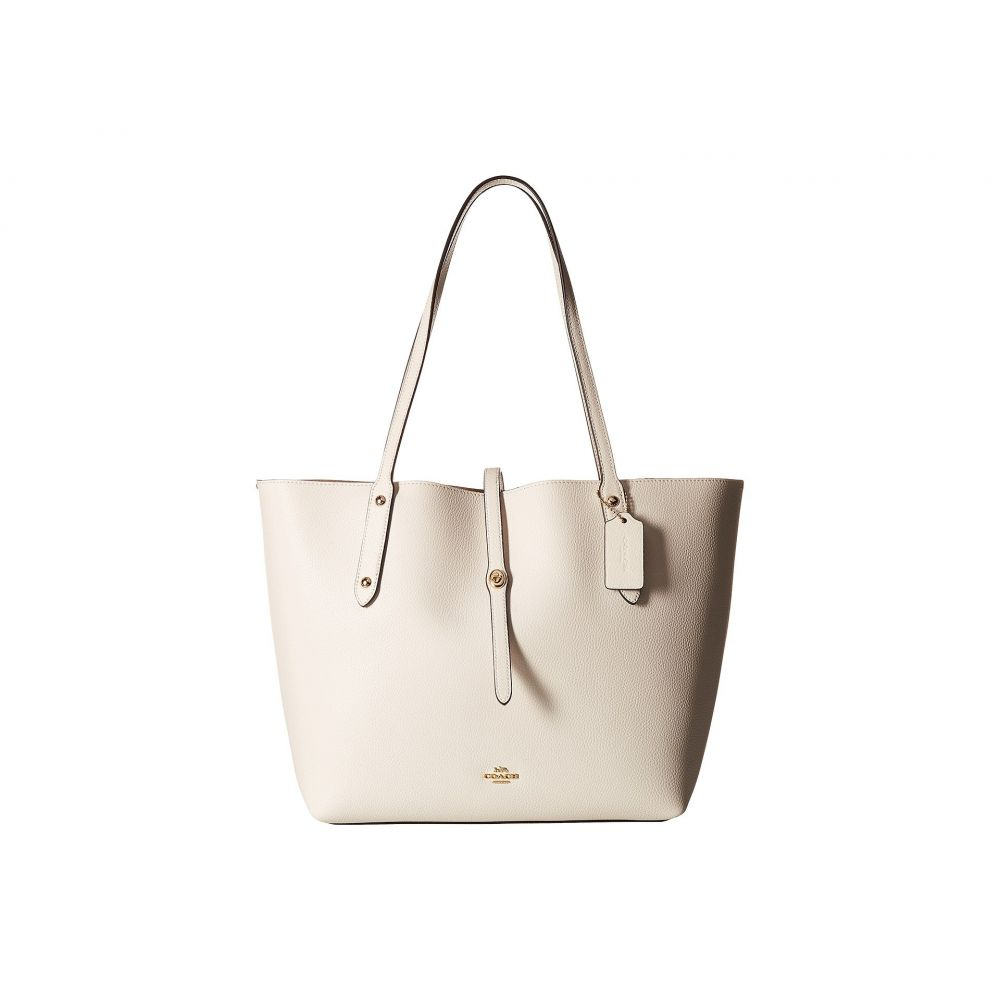 コーチ COACH レディース バッグ トートバッグ【Polished Pebbled Leather Market Tote】LI/Chalk