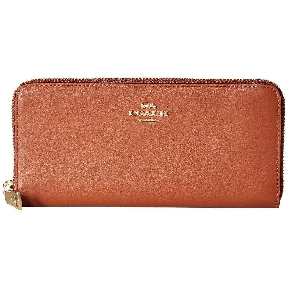 コーチ COACH レディース 財布【Smooth Leather Slim Accordion Zip】Li/1941 Saddle