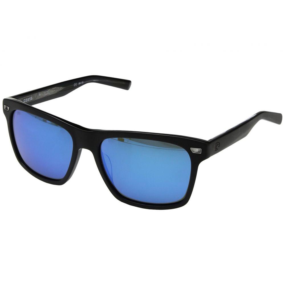 コスタ Costa レディース メガネ・サングラス【Aransas】Matte Black Frame/Blue Mirror 580G