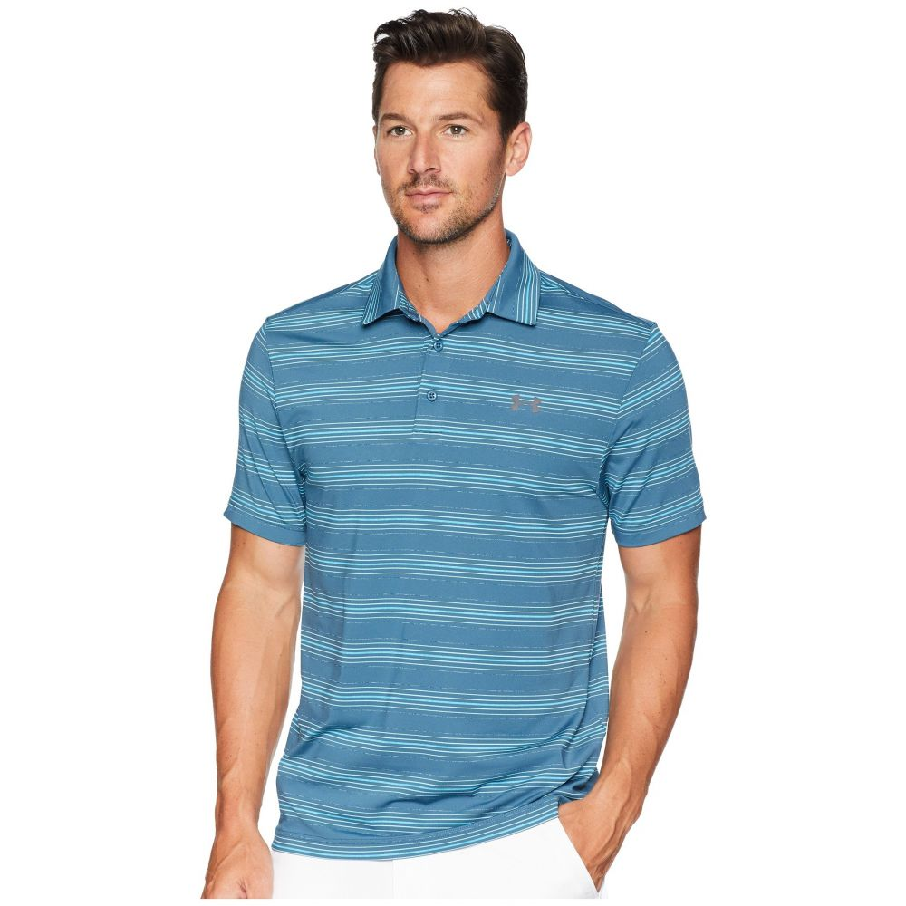 アンダーアーマー Under Armour Golf メンズ ゴルフ トップス【UA Playoff Polo】Static Blue/Static Blue/Rhino Gray