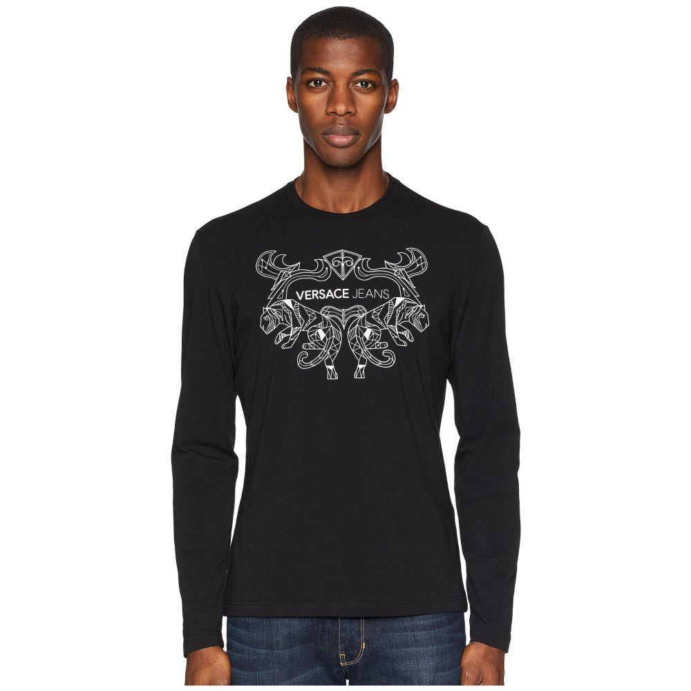 ヴェルサーチ Versace Jeans メンズ トップス Tシャツ【Embellished Logo T-Shirt】Black