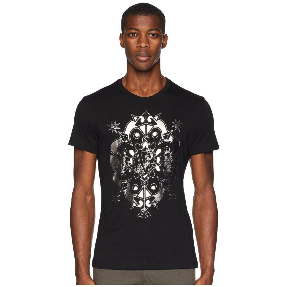 ヴェルサーチ Versace Jeans メンズ トップス Tシャツ【Kaleidoscope Graphic T-Shirt】Black