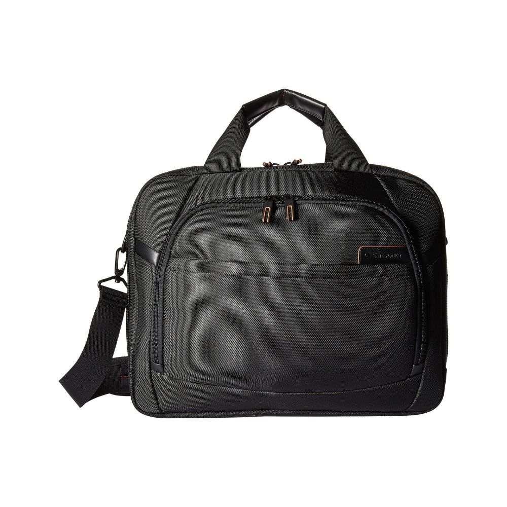 Gusset メンズ パソコンバッグ【PRO サムソナイト 15.6' バッグ Two 4 Laptop Samsonite DLX Brief】Black