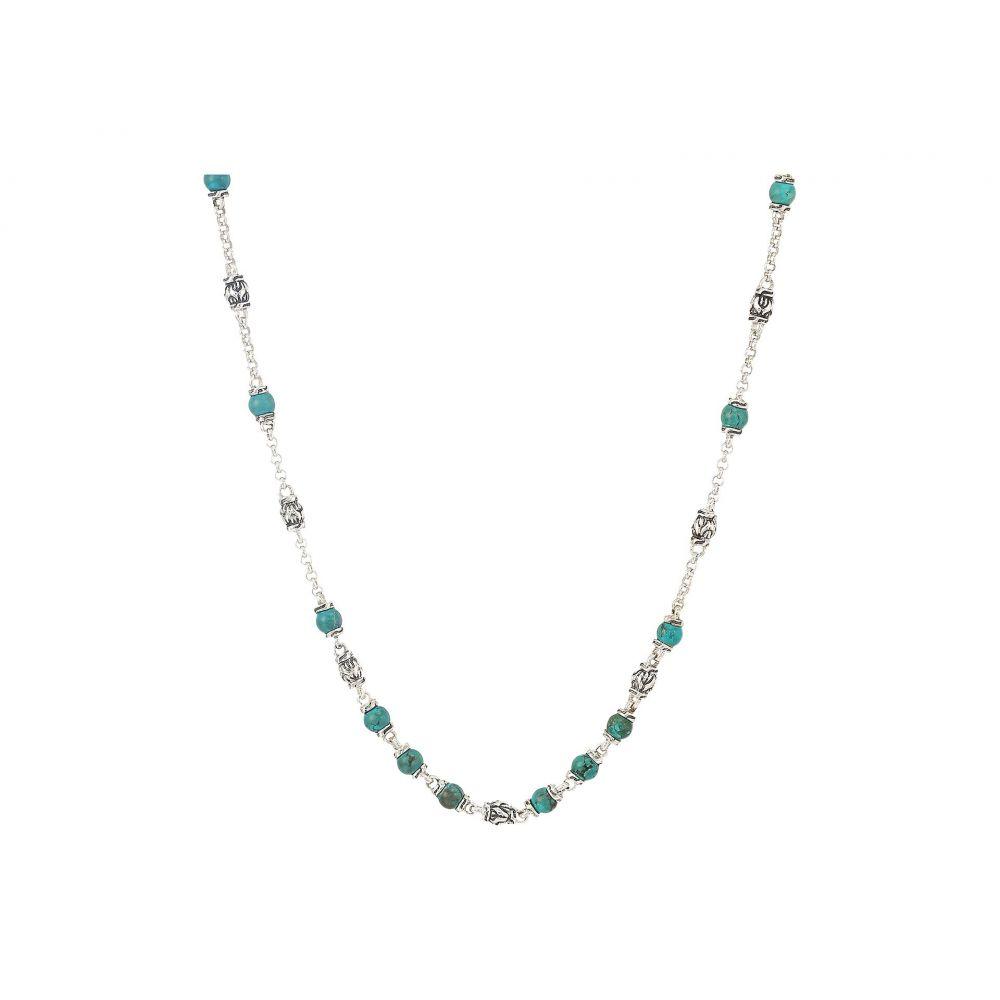 ジョン ハーディー John Hardy メンズ ジュエリー・アクセサリー ネックレス【Classic Chain Bead Necklace with 4mm Natural Arizona Turquoise】Silver