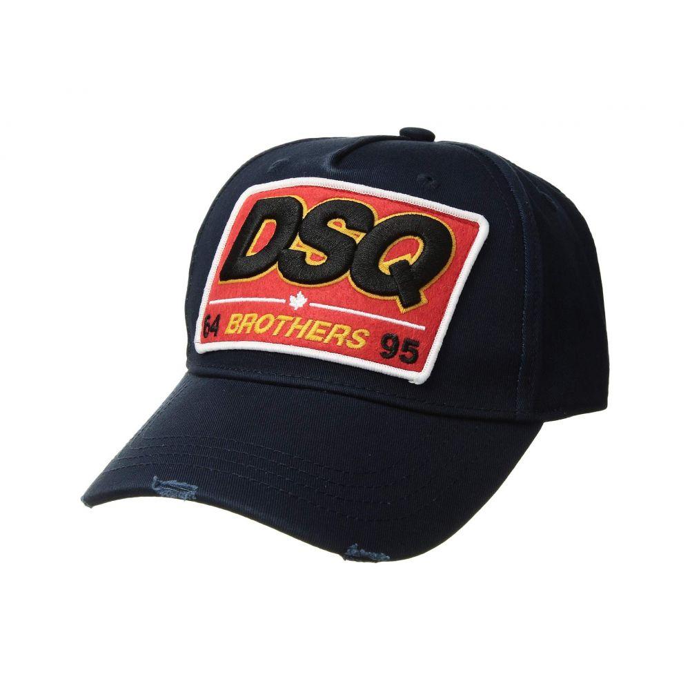 ディースクエアード DSQUARED2 メンズ 帽子 キャップ【Brothers Baseball Cap】Navy
