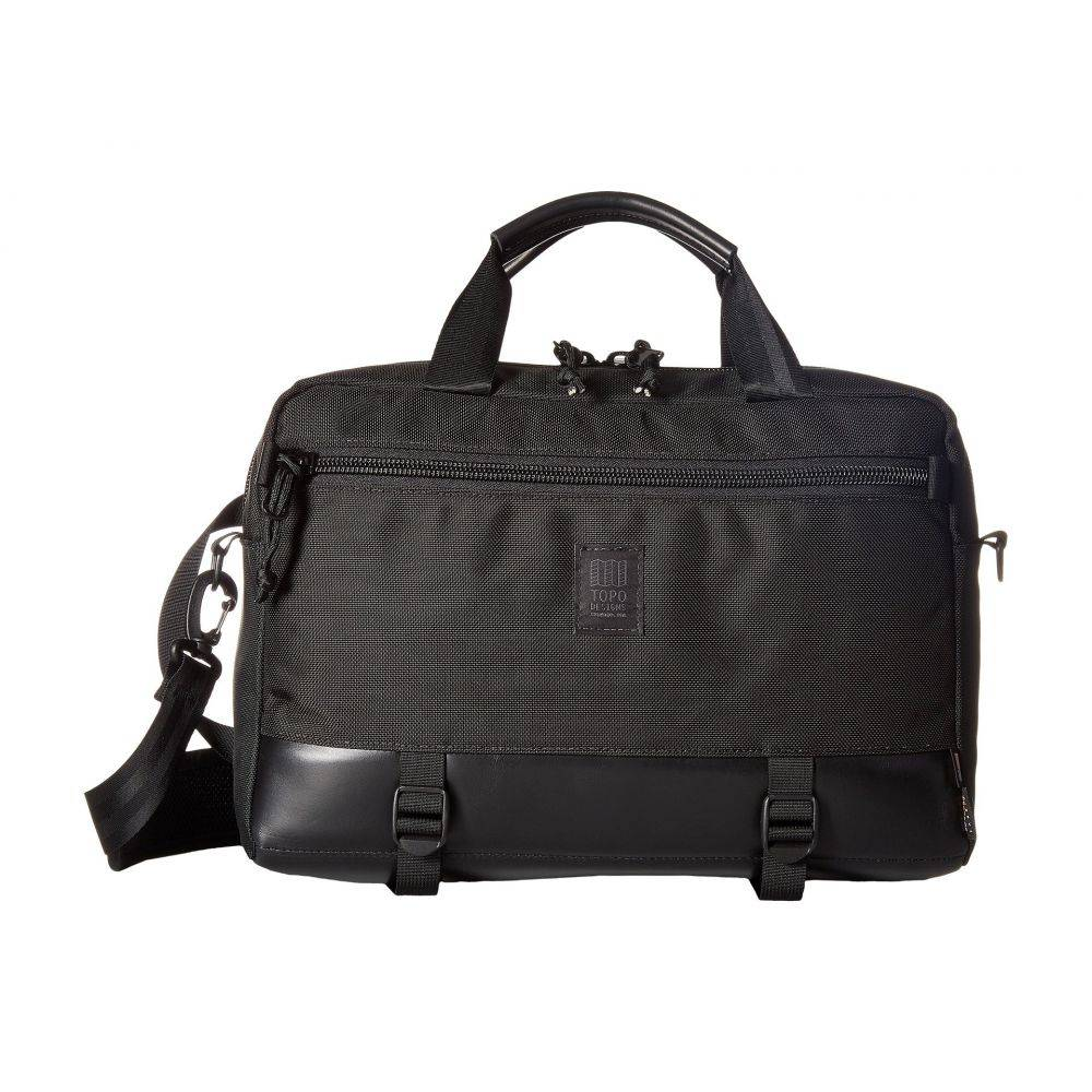 トポ デザイン Topo Designs レディース バッグ【Commuter Briefcase】Ballistic Black/Black Leather