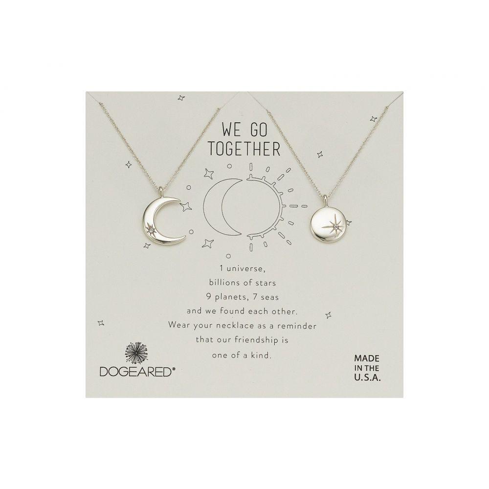 ドギャード Dogeared レディース ジュエリー・アクセサリー ネックレス【We Go Together, Crecent and Star Disc with Crystal Set of 2 Necklaces】Sterling Silver