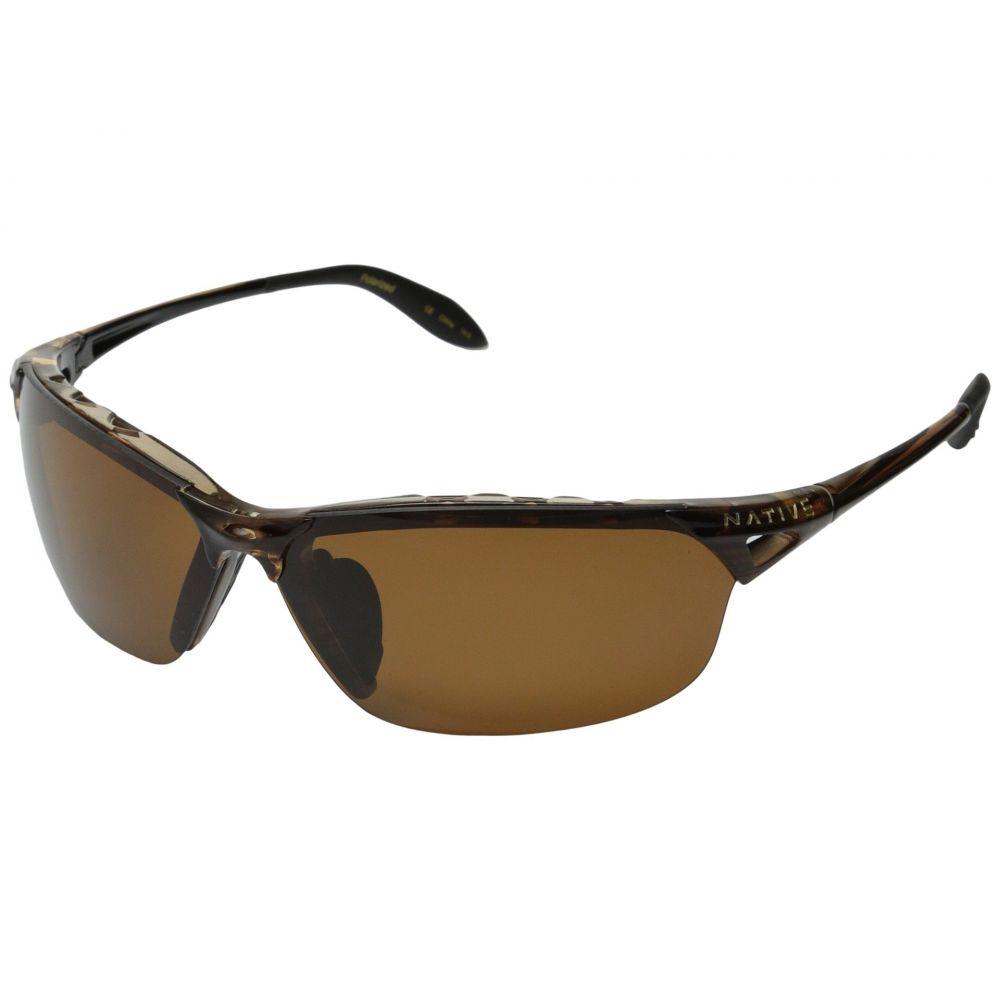ネイティブアイウェア Native Eyewear レディース スポーツサングラス【Vigor Polarized】Wood/Brown Polarized Lens