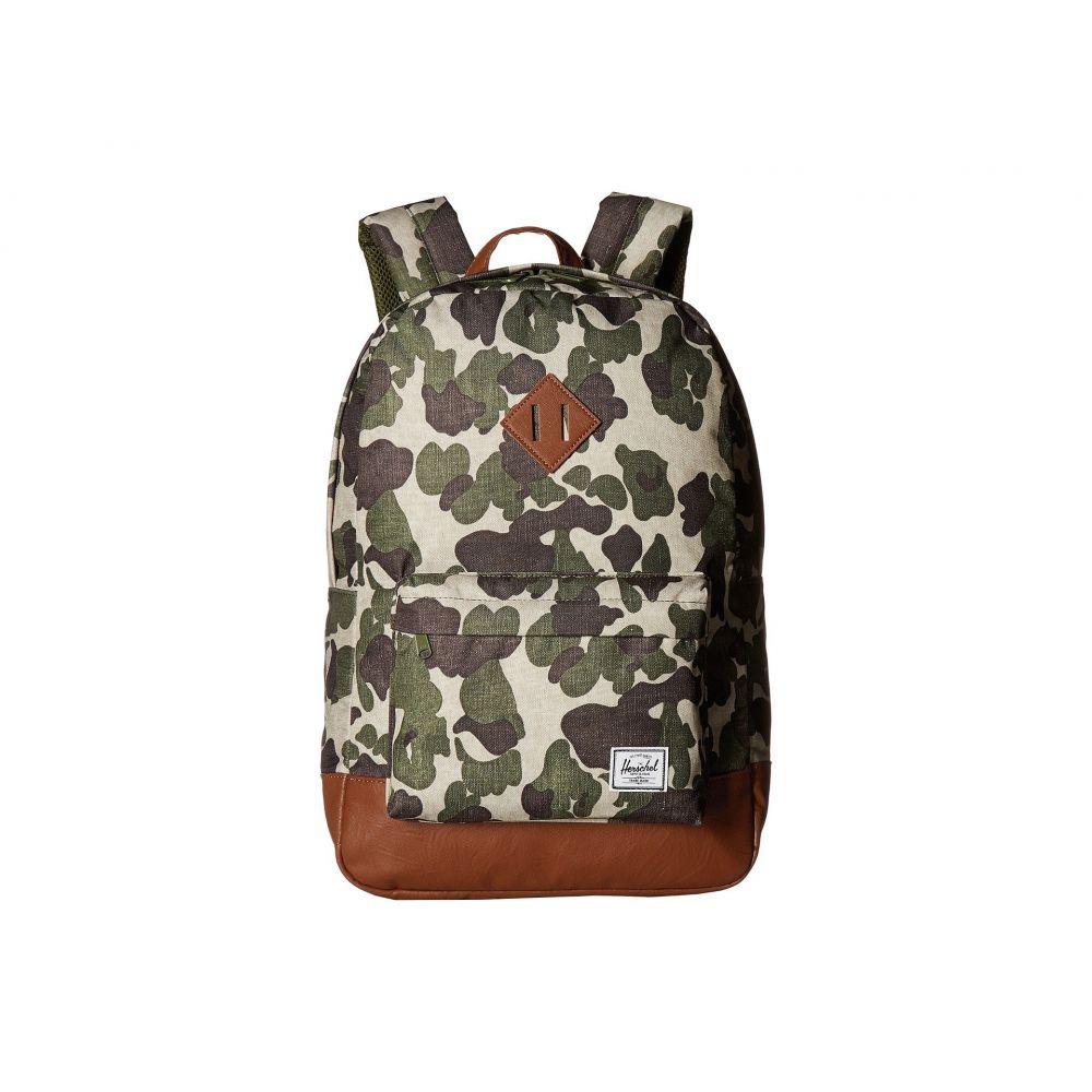 ハーシェル サプライ Herschel Supply Co. レディース バッグ バックパック・リュック【Heritage】Frog Camo/Tan Synthetic Leather