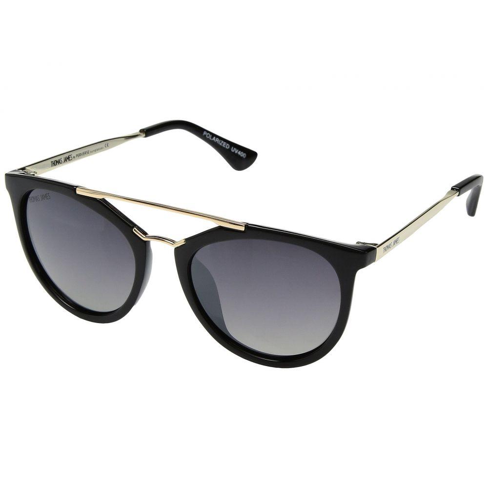 パーバースサングラス THOMAS JAMES LA by PERVERSE Sunglasses レディース メガネ・サングラス【Beaudry】Black/Gold Detail