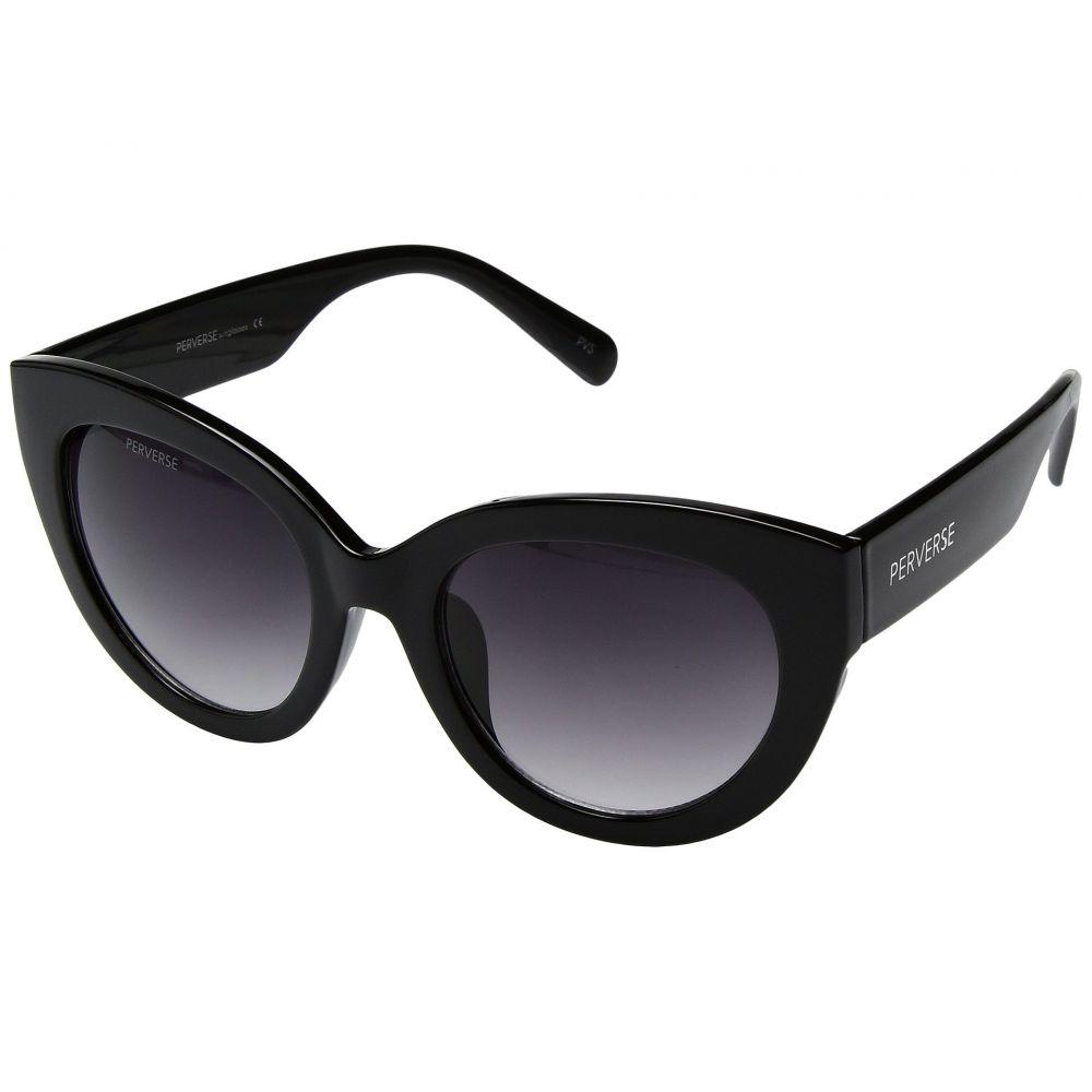 パーバースサングラス THOMAS JAMES LA by PERVERSE Sunglasses レディース メガネ・サングラス【Dahlia】Blackout/Glossy Black/Black Gradient