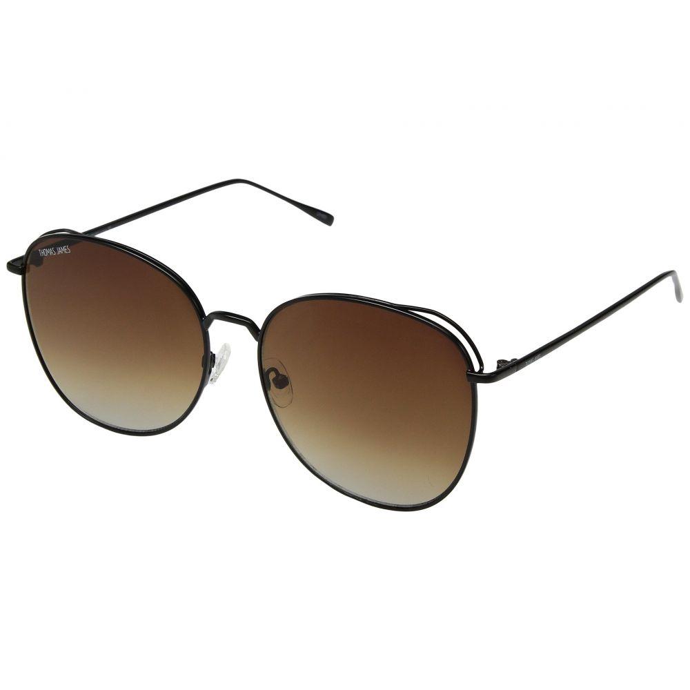 パーバースサングラス THOMAS JAMES LA by PERVERSE Sunglasses レディース メガネ・サングラス【Joy】Black/Brown Gradient Lens