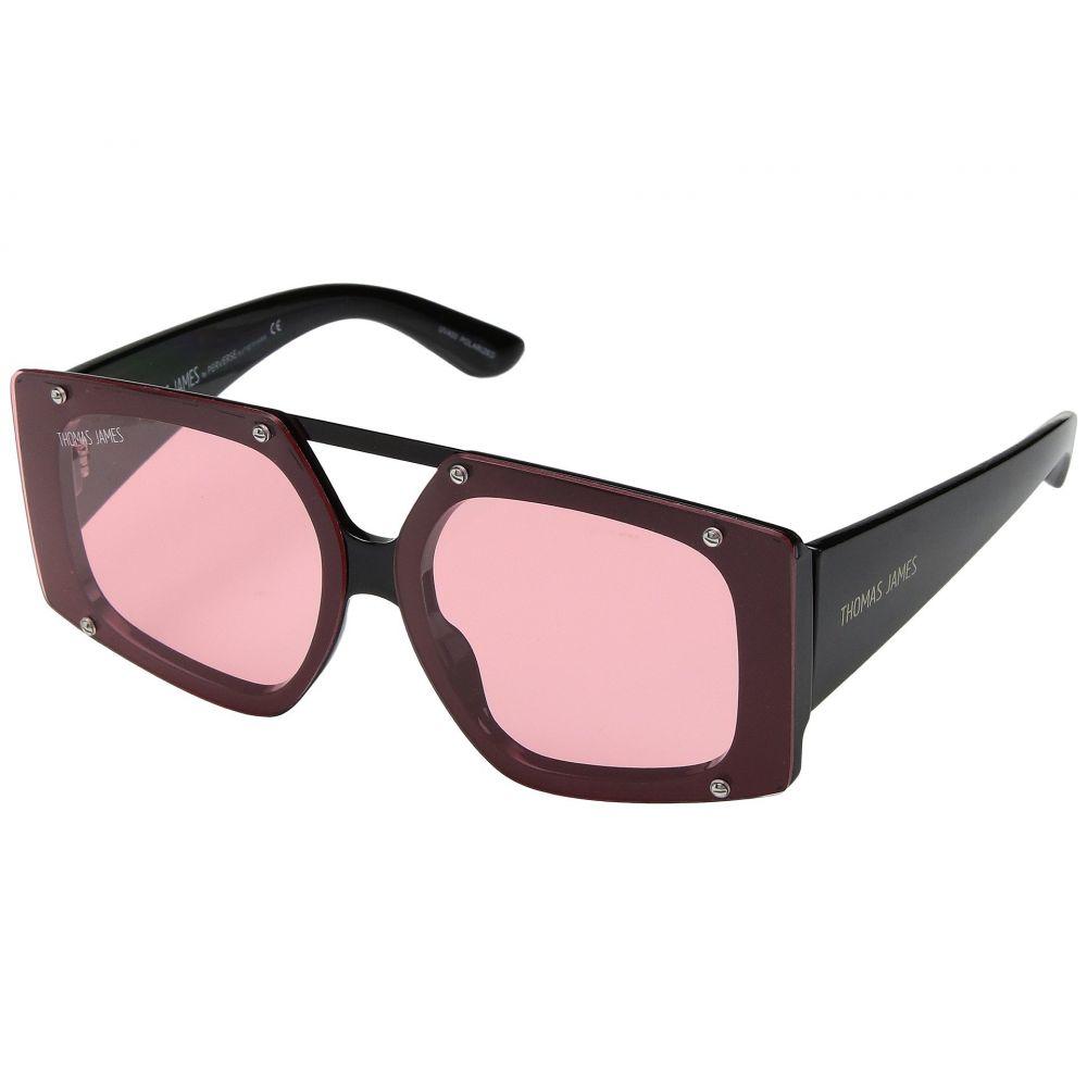 パーバースサングラス THOMAS JAMES LA by PERVERSE Sunglasses レディース メガネ・サングラス【Harajuku Bunny】Black/Pink Lens