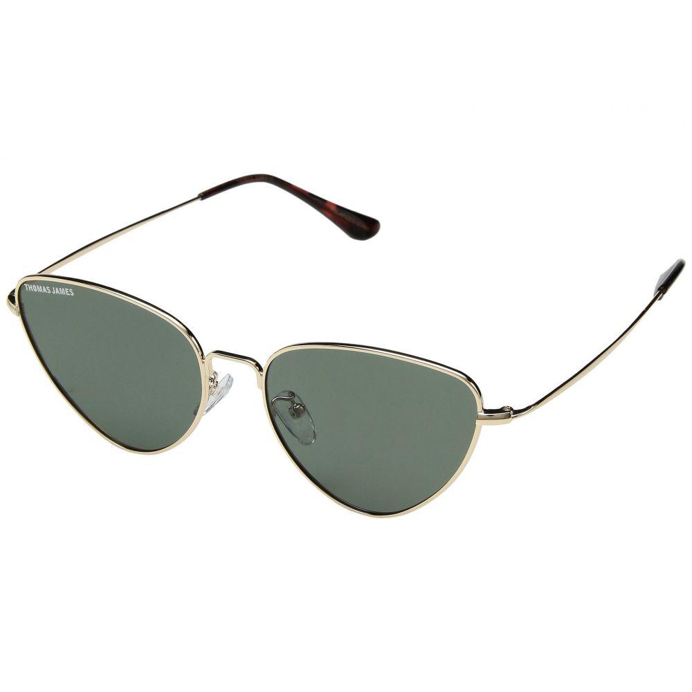 パーバースサングラス THOMAS JAMES LA by PERVERSE Sunglasses レディース メガネ・サングラス【Ninezero】Gold/Green Smoke Lens