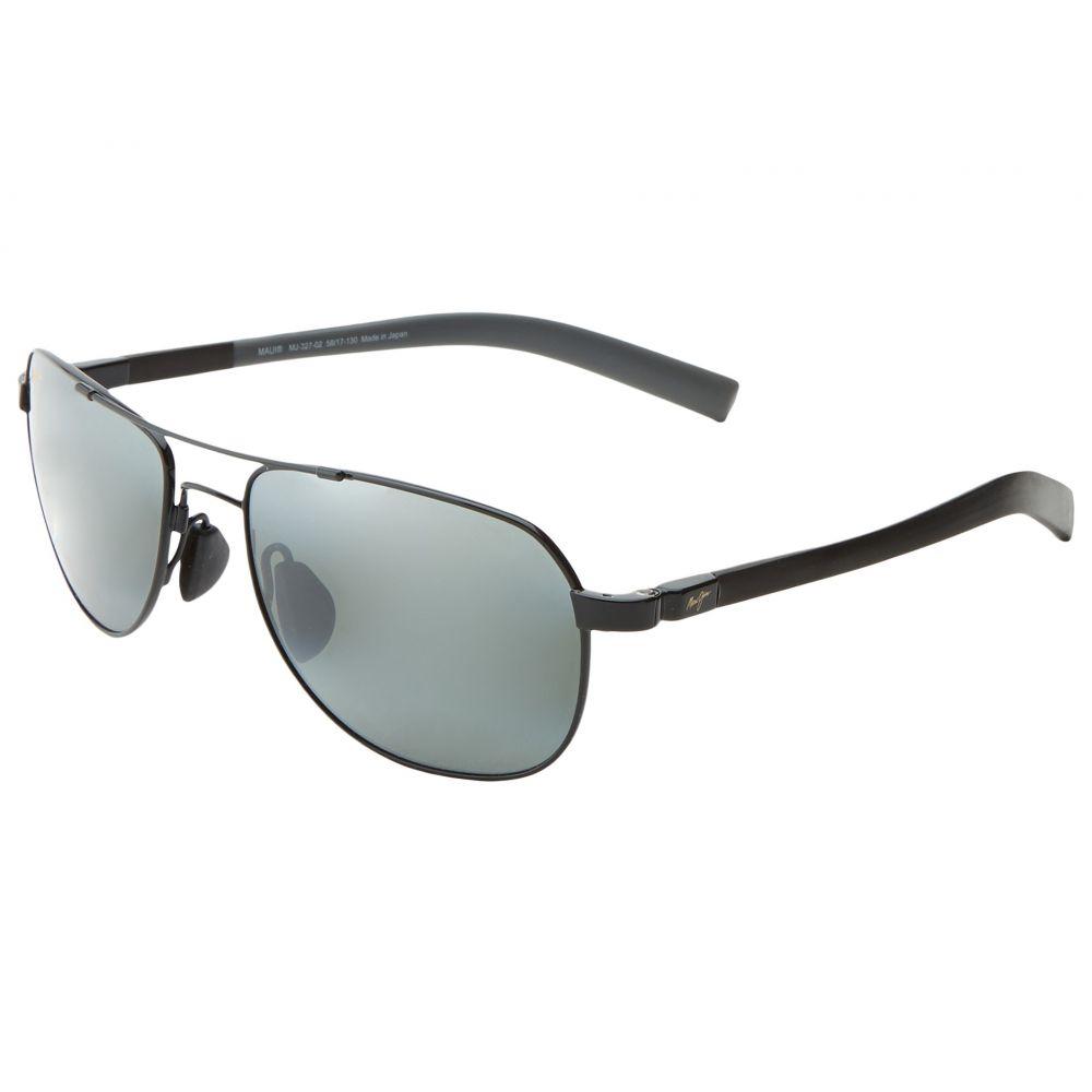 マウイジム Maui Jim レディース スポーツサングラス【Guardrails】Gloss Black/Neutral Grey Lens