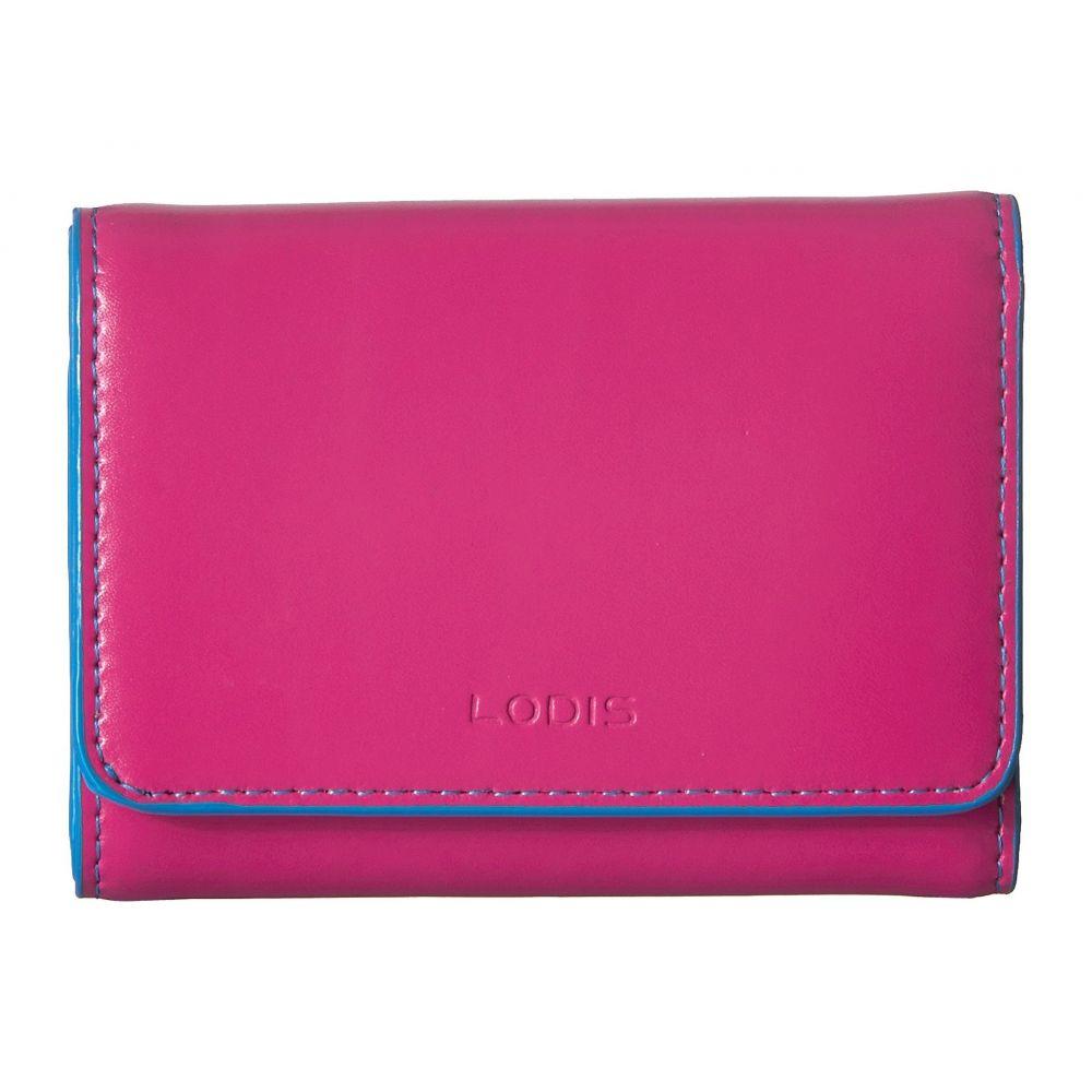 ロディス アクセサリー Lodis Accessories レディース 財布【Audrey RFID Mallory French Purse】Hot Pink/Blue