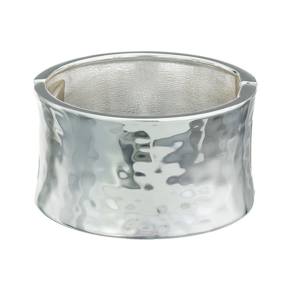ロバート リー モーリス Robert Lee Morris レディース ジュエリー・アクセサリー ブレスレット【Wide Hammered Hinge Bangle Bracelet】Silver