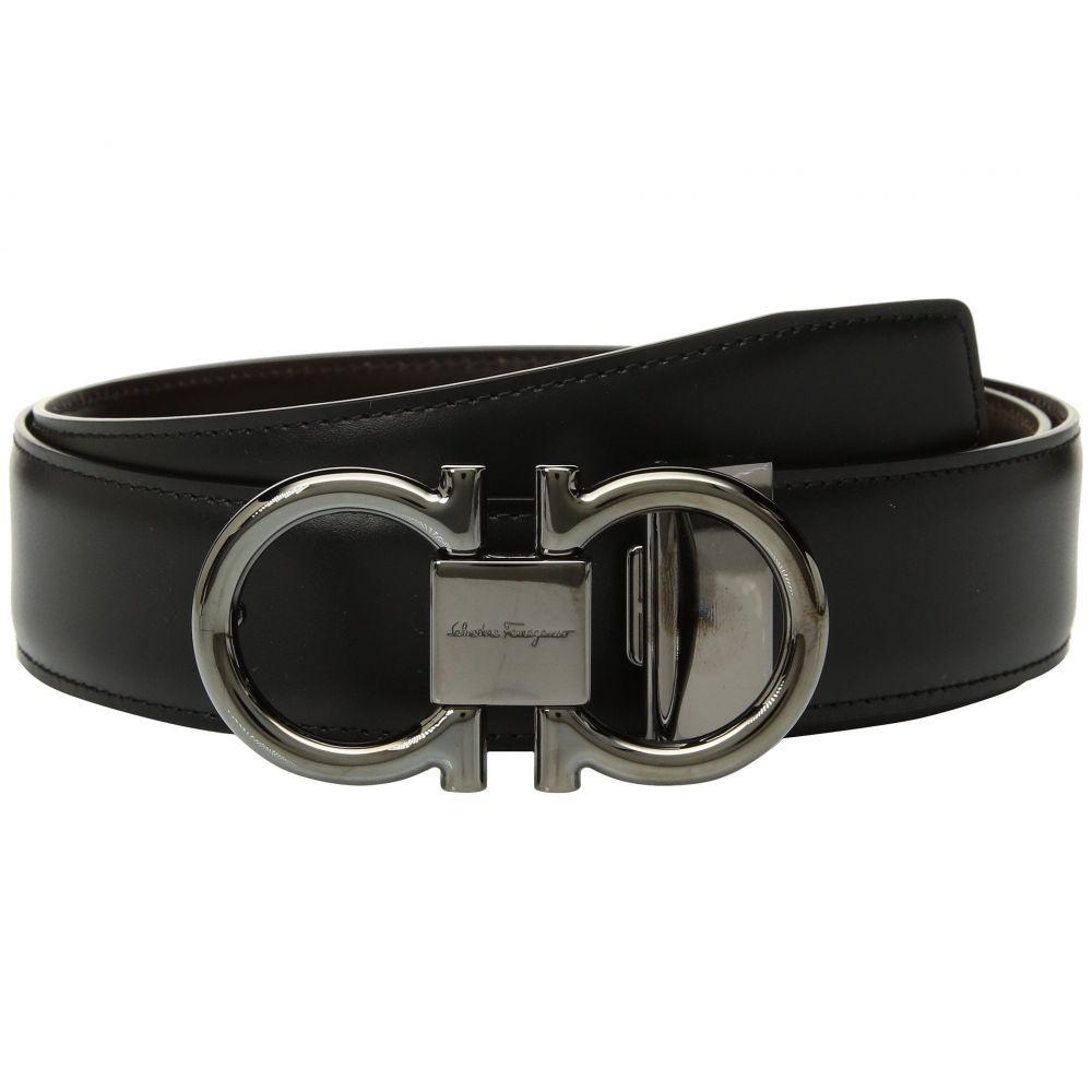 サルヴァトーレ フェラガモ Salvatore Ferragamo メンズ ベルト【Adjustable/Reversible Double Gancini Dress Belt】Nero/Hickory