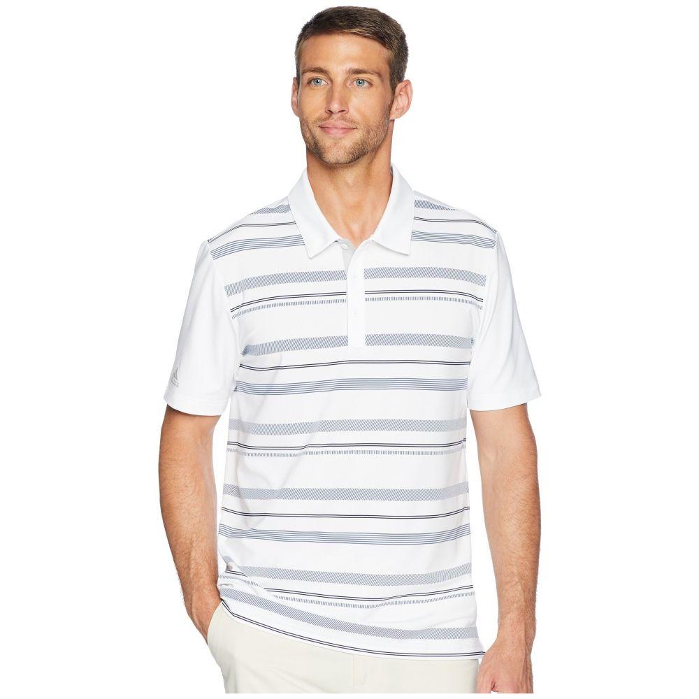 アディダス adidas Golf メンズ ゴルフ トップス【Ultimate Novelty Stripe Polo】White