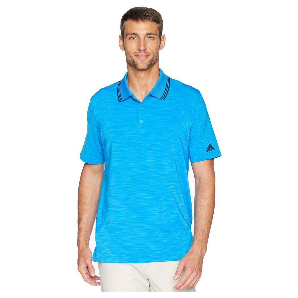 アディダス adidas Golf メンズ ゴルフ トップス【Ultimate Heather Polo】Bright Blue Heather