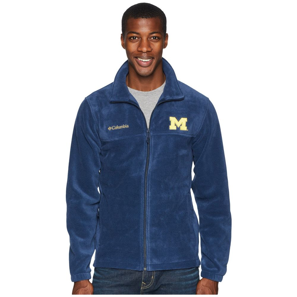 コロンビア Columbia メンズ トップス フリース【Collegiate Flanker(TM) II Full Zip Fleece】Michigan/Collegiate Navy