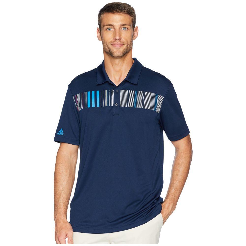アディダス adidas Golf メンズ ゴルフ トップス【Chest Stripe Polo】Collegiate Navy