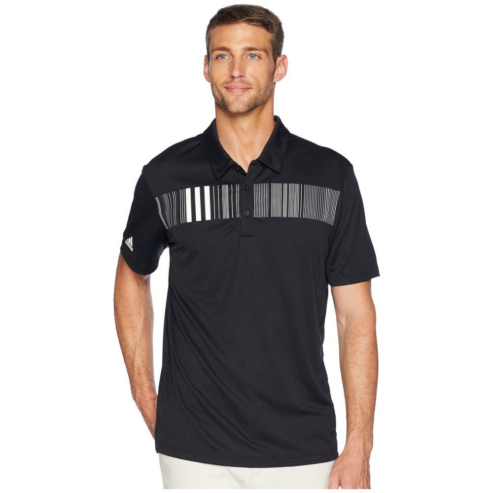 アディダス adidas Golf メンズ ゴルフ トップス【Chest Stripe Polo】Black