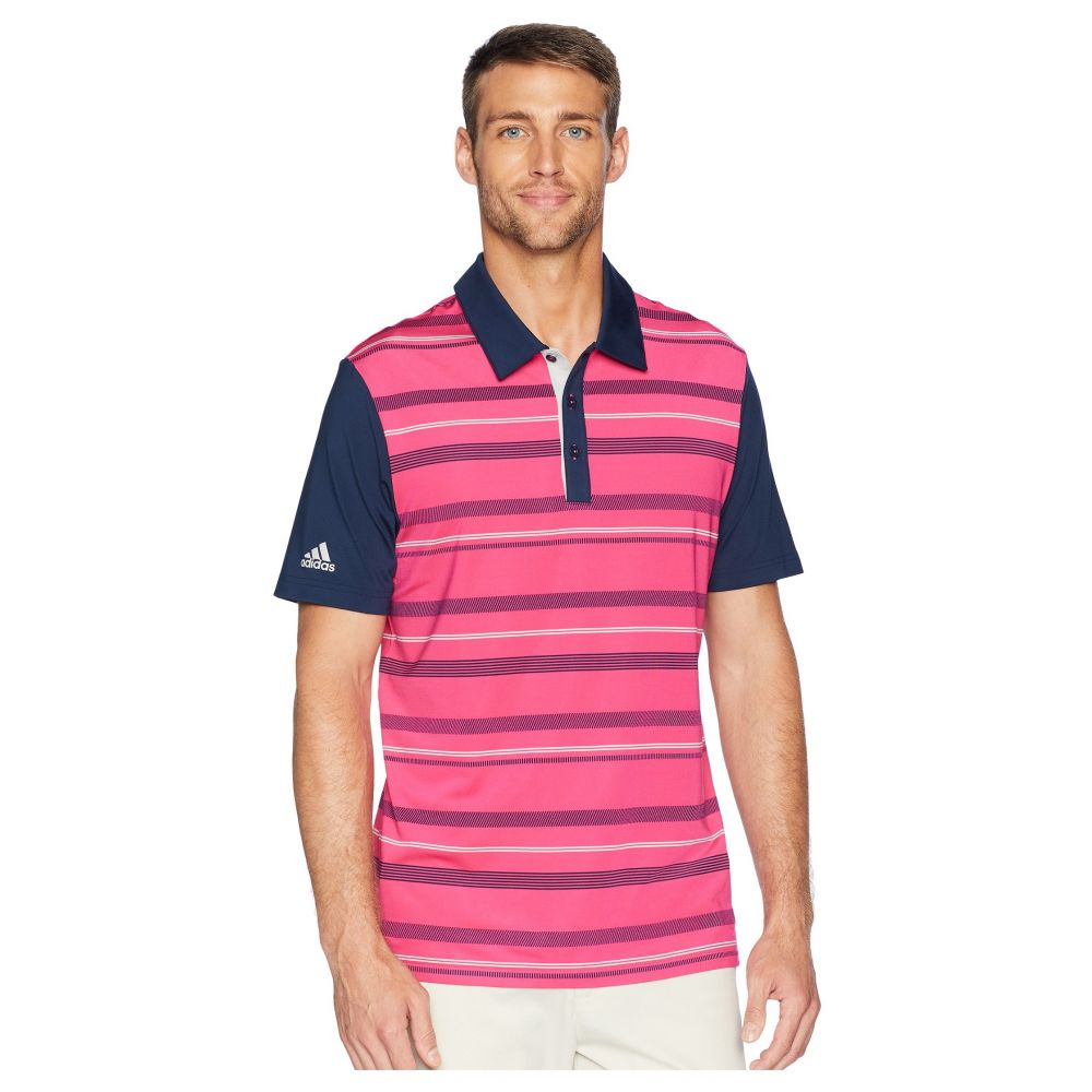 アディダス adidas Golf メンズ ゴルフ トップス【Ultimate Novelty Stripe Polo】Real Magenta