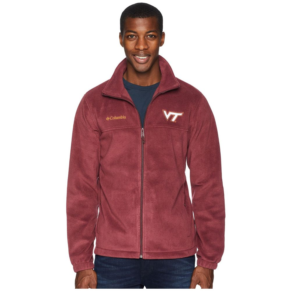 コロンビア Columbia メンズ トップス フリース【Collegiate Flanker(TM) II Full Zip Fleece】Virginia Tech/Maroon