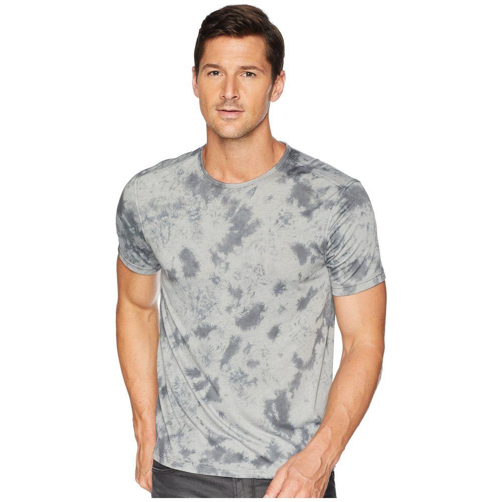 ジョン バルベイトス John Varvatos Star U.S.A. メンズ トップス Tシャツ【Short Sleeve Non-Camo Tie-Dye Crew K3811U2B】Silver/Grey