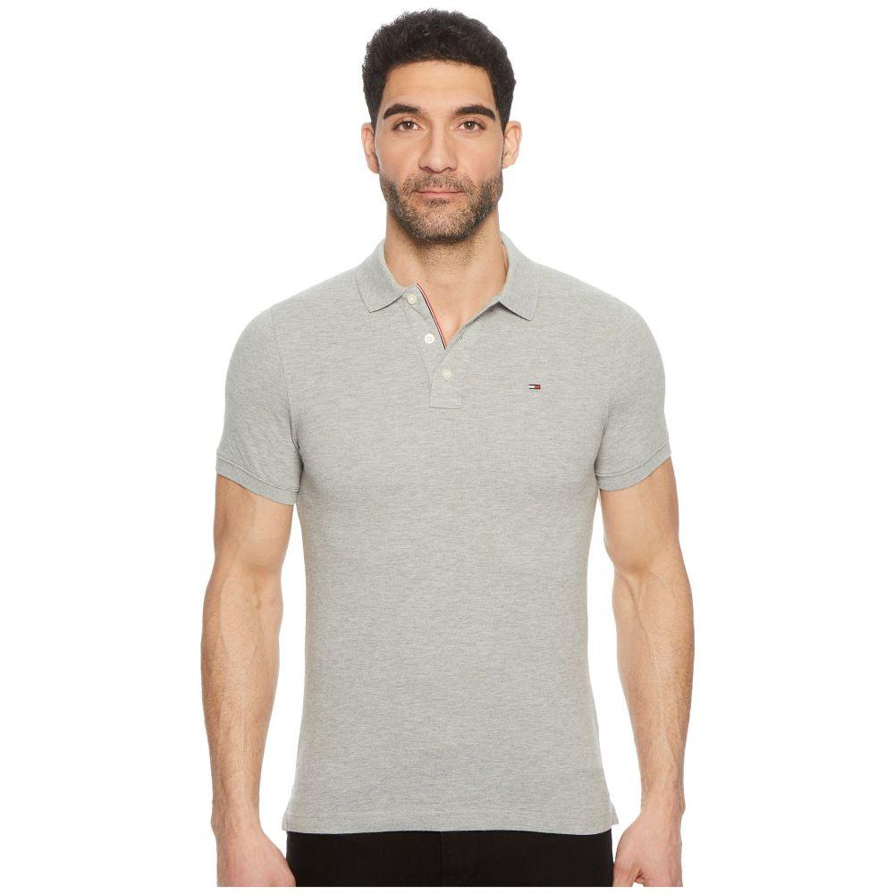 トミー ジーンズ Tommy Jeans メンズ トップス ポロシャツ【Slim Fit Flag Polo Shirt】Light Grey Heather