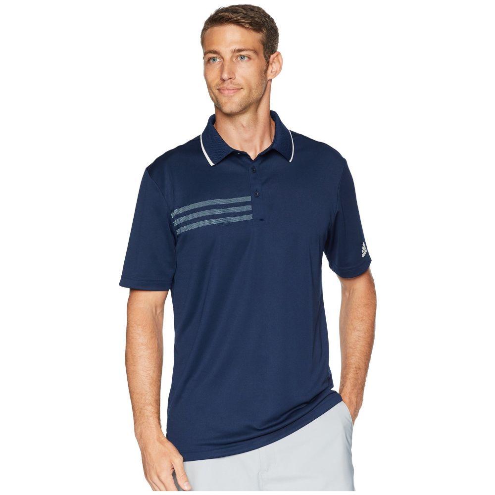 アディダス adidas Golf メンズ ゴルフ トップス【3-Stripes Pique Polo】Collegiate Navy