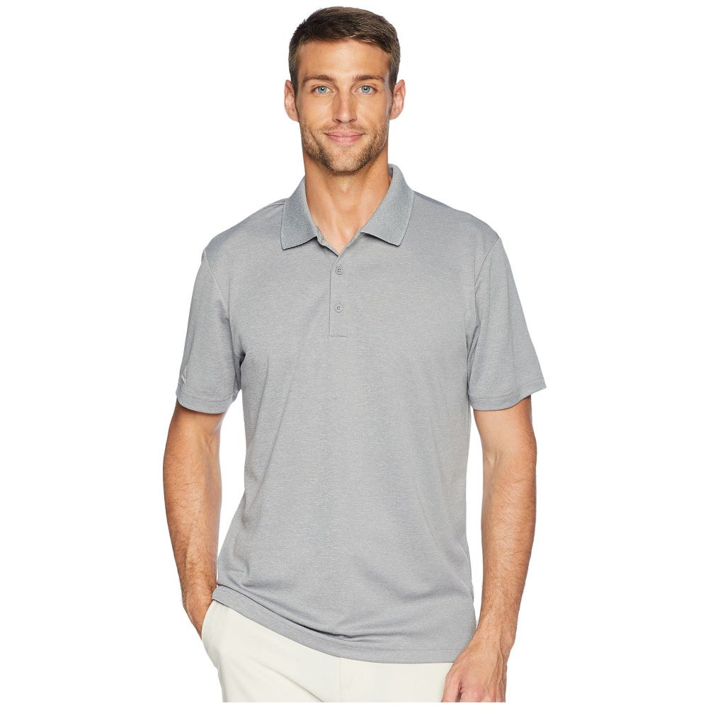 アディダス adidas Golf メンズ ゴルフ トップス【Performance Heather Polo】Grey Three Heather